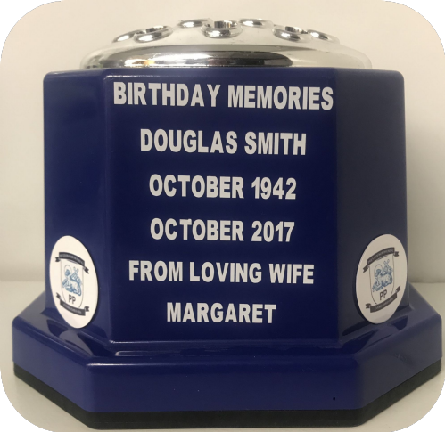 Preston North End  F. C. football personalised Grave pot (1)
